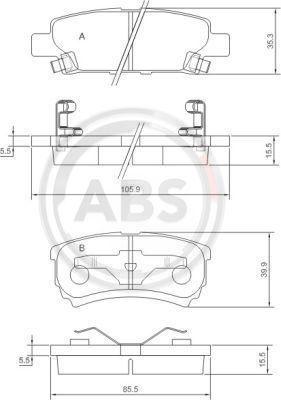 A.B.S. 37384 | Тормозные колодки ABS | Купить в интернет-магазине Макс-Плюс: Автозапчасти в наличии и под заказ