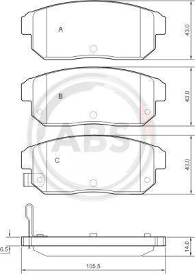 A.B.S. 37419 | Колодки | Купить в интернет-магазине Макс-Плюс: Автозапчасти в наличии и под заказ