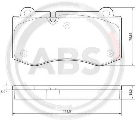 A.B.S. 37565 | Тормозные колодки ABS | Купить в интернет-магазине Макс-Плюс: Автозапчасти в наличии и под заказ