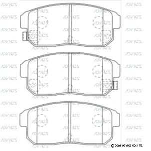 ADVICS SN433P | Колодки тормозные | Купить в интернет-магазине Макс-Плюс: Автозапчасти в наличии и под заказ