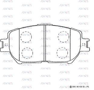 ADVICS SN687 | Дисковые тормозные колодки ADVICS | Купить в интернет-магазине Макс-Плюс: Автозапчасти в наличии и под заказ