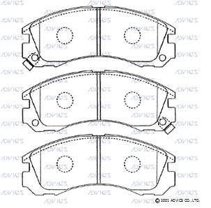 ADVICS SN799P | Дисковые тормозные колодки ADVICS | Купить в интернет-магазине Макс-Плюс: Автозапчасти в наличии и под заказ