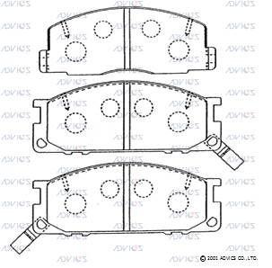 ADVICS SN815P | колодки | Купить в интернет-магазине Макс-Плюс: Автозапчасти в наличии и под заказ