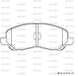 ADVICS SN889 | Дисковые тормозные колодки ADVICS | Купить в интернет-магазине Макс-Плюс: Автозапчасти в наличии и под заказ