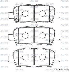 ADVICS SN891P | Дисковые тормозные колодки ADVICS | Купить в интернет-магазине Макс-Плюс: Автозапчасти в наличии и под заказ