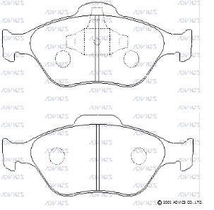 ADVICS SN901 | Дисковые тормозные колодки ADVICS | Купить в интернет-магазине Макс-Плюс: Автозапчасти в наличии и под заказ
