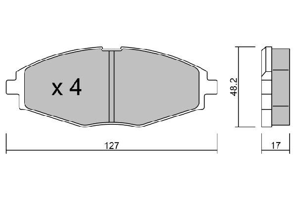 AISIN BPDO1001 | Колодки тормозные дисковые DAEWOO Sens | Купить в интернет-магазине Макс-Плюс: Автозапчасти в наличии и под заказ