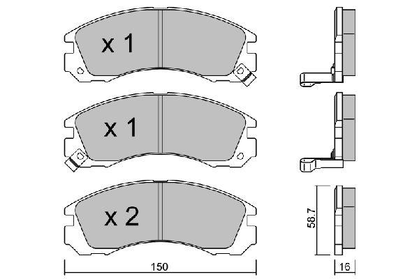 AISIN BPMI1902 | Колодки тормозные CITROEN | Купить в интернет-магазине Макс-Плюс: Автозапчасти в наличии и под заказ