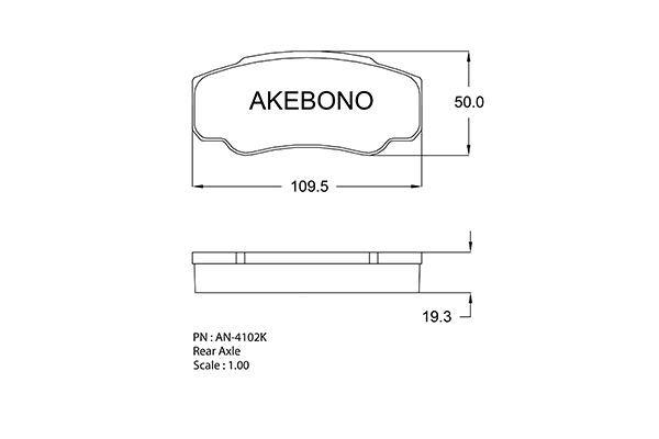 AKEBONO AN4102K | Колодки тормозные италия | Купить в интернет-магазине Макс-Плюс: Автозапчасти в наличии и под заказ