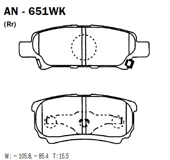 AKEBONO AN651WK | Колодки тормозные дисковые задн MITSUBISHI: LANCER 08- | Купить в интернет-магазине Макс-Плюс: Автозапчасти в наличии и под заказ