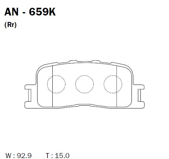AKEBONO AN659K | Колодки тормозные Япония | Купить в интернет-магазине Макс-Плюс: Автозапчасти в наличии и под заказ