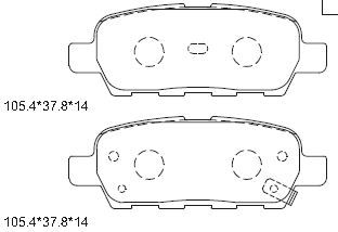 ASIMCO KD1739 | PAD KIT, DISC BRAKE | Купить в интернет-магазине Макс-Плюс: Автозапчасти в наличии и под заказ