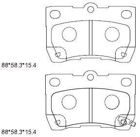 ASIMCO KD2782 | PAD KIT, DISC BRAKE | Купить в интернет-магазине Макс-Плюс: Автозапчасти в наличии и под заказ