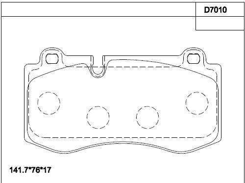 ASIMCO KD7010 | Тормозные колодки | Купить в интернет-магазине Макс-Плюс: Автозапчасти в наличии и под заказ