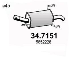 ASSO 347151   ГЛ.ЗД.Ч. OPEL ASTRA G 1.7 DTI/CDTI 03-04   Купить в интернет-магазине Макс-Плюс: Автозапчасти в наличии и под заказ