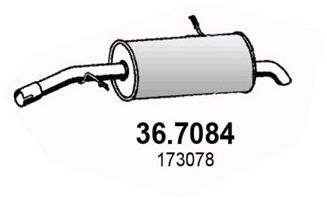 ASSO 367084   Глушитель задний PEUG 207 06-   Купить в интернет-магазине Макс-Плюс: Автозапчасти в наличии и под заказ