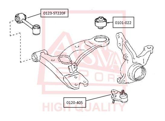 ASVA 0120405 | Опора шаровая | Купить в интернет-магазине Макс-Плюс: Автозапчасти в наличии и под заказ