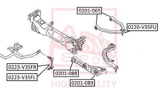 ASVA 0201089 | Сайлентблок рычага подвески | перед прав/лев | | Купить в интернет-магазине Макс-Плюс: Автозапчасти в наличии и под заказ