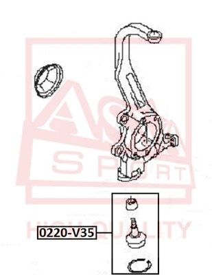 ASVA 0220V35 | Опора шаровая | перед прав/лев | | Купить в интернет-магазине Макс-Плюс: Автозапчасти в наличии и под заказ