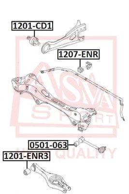 ASVA 0501063 | Сайлентблок реактивной тяги | зад прав/лев | | Купить в интернет-магазине Макс-Плюс: Автозапчасти в наличии и под заказ