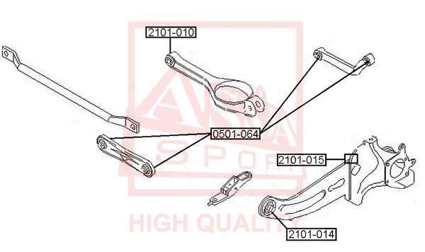 ASVA 0501064 | Сайлентблок реактивной тяги | зад прав/лев | | Купить в интернет-магазине Макс-Плюс: Автозапчасти в наличии и под заказ