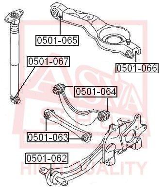 ASVA 0501066 | Сайлентблок нижнего поперечного рычага подвески | зад прав/лев | | Купить в интернет-магазине Макс-Плюс: Автозапчасти в наличии и под заказ