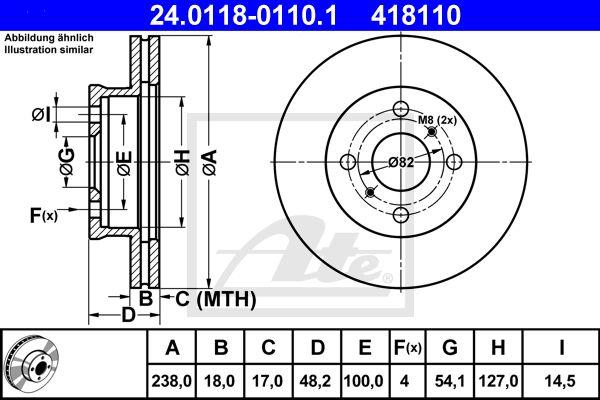 ATE 24011801101 | Тормозной диск | Купить в интернет-магазине Макс-Плюс: Автозапчасти в наличии и под заказ