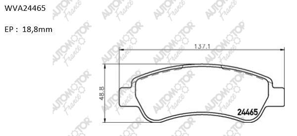 AUTOMOTOR FRANCE PBP5469 | Колодки тормозные задние дисковые Ducato (250), Boxer 06-> | Купить в интернет-магазине Макс-Плюс: Автозапчасти в наличии и под заказ