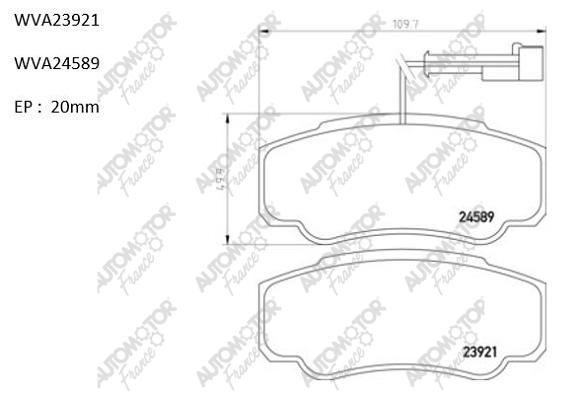 AUTOMOTOR FRANCE PBP6358 | Колодки тормозные задние дисковые Ducato 02-> RUS PSA | Купить в интернет-магазине Макс-Плюс: Автозапчасти в наличии и под заказ
