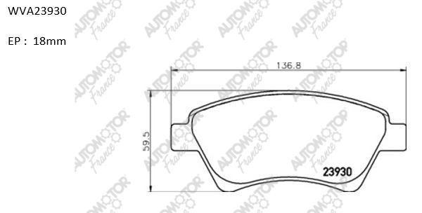 AUTOMOTOR FRANCE PBP8070 | Колодки торм перед Renault Megane II 02- Scenic 03- Kangoo 01- | Купить в интернет-магазине Макс-Плюс: Автозапчасти в наличии и под заказ