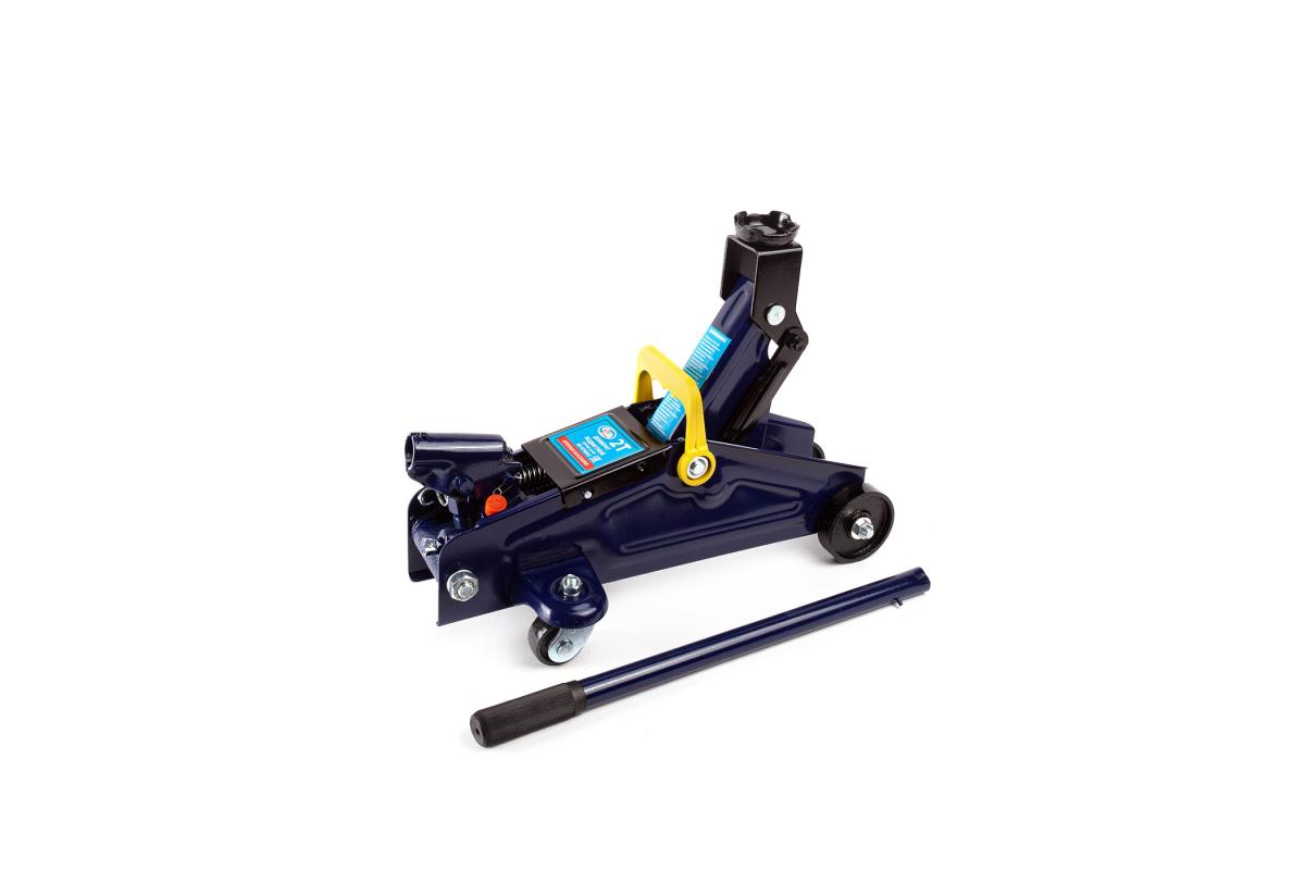 AUTOVIRAZH AV076002 | Домкрат гидравлический подкатной 2т в кейсе (синий) | Купить в интернет-магазине Макс-Плюс: Автозапчасти в наличии и под заказ