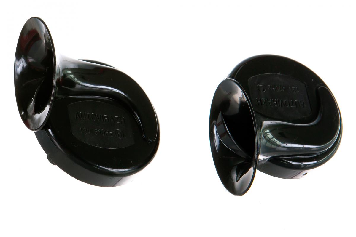 AUTOVIRAZH AV016001 | Звуковой электромагнитный сигнал GMP 2-х рожковый 410/510Hz, комплект 2шт от 12V | Купить в интернет-магазине Макс-Плюс: Автозапчасти в наличии и под заказ