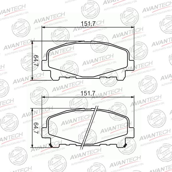 AVANTECH AV0336 | Колодки тормозные дисковые Avantech | Купить в интернет-магазине Макс-Плюс: Автозапчасти в наличии и под заказ
