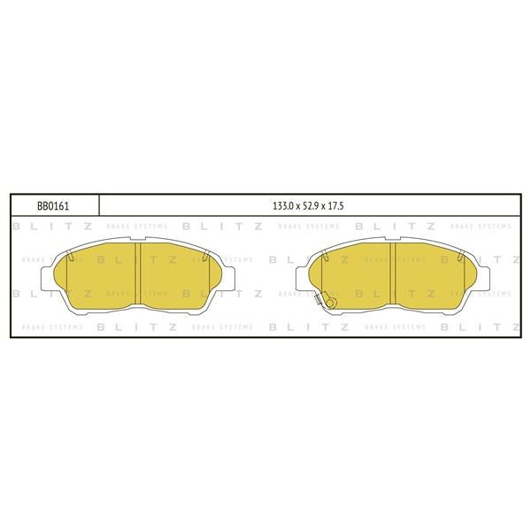BLITZ BB0161   Колодки тормозные дисковые   Купить в интернет-магазине Макс-Плюс: Автозапчасти в наличии и под заказ