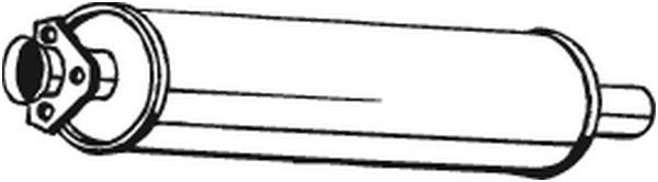 BOSAL 105901 | 105-901 Глушитель центральный | Купить в интернет-магазине Макс-Плюс: Автозапчасти в наличии и под заказ