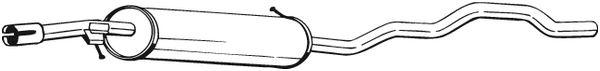 BOSAL 285327 | Основной глушитель | Купить в интернет-магазине Макс-Плюс: Автозапчасти в наличии и под заказ