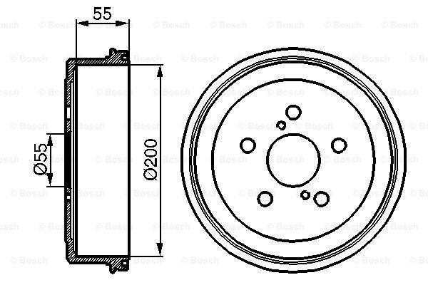 BOSCH 0986477139 | Тормозной барабан | Купить в интернет-магазине Макс-Плюс: Автозапчасти в наличии и под заказ