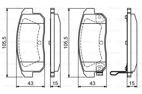 BOSCH 0986494223 | 0 986 494 223 колодки дисковые задние!\ Mazda RX-8 2.6i, Suzuki Ignis 1.3/1.5i 01> | Купить в интернет-магазине Макс-Плюс: Автозапчасти в наличии и под заказ