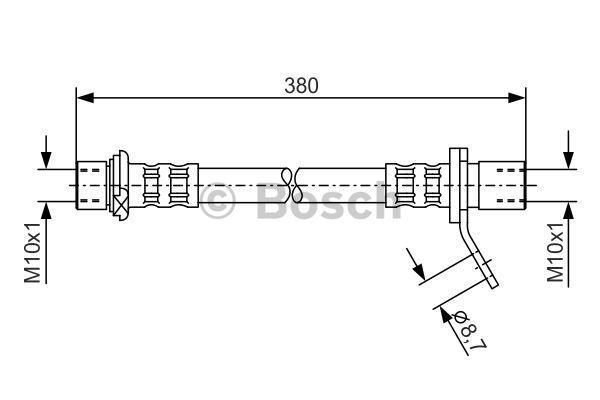 BOSCH 1987476161   Шлангопровод   Купить в интернет-магазине Макс-Плюс: Автозапчасти в наличии и под заказ