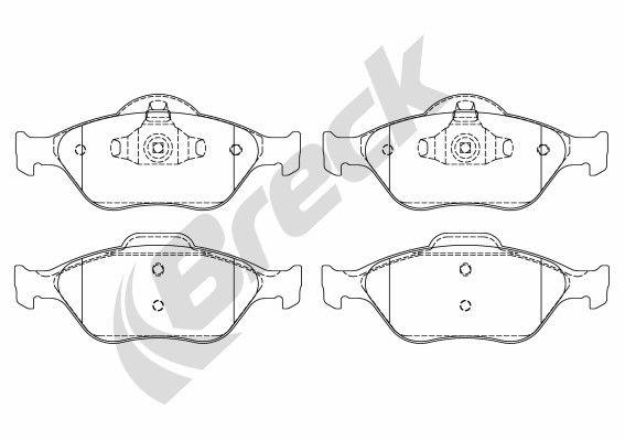 BRECK 232020070200 | Колодки торм.пер. | Купить в интернет-магазине Макс-Плюс: Автозапчасти в наличии и под заказ