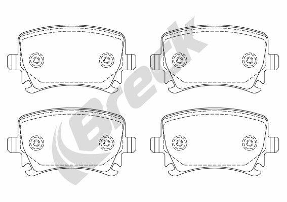 BRECK 239140070400 | Комплект тормозных колодок, дисковый тормоз | Купить в интернет-магазине Макс-Плюс: Автозапчасти в наличии и под заказ