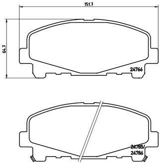 BREMBO P28043 | Колодки тормозные, передние | Купить в интернет-магазине Макс-Плюс: Автозапчасти в наличии и под заказ