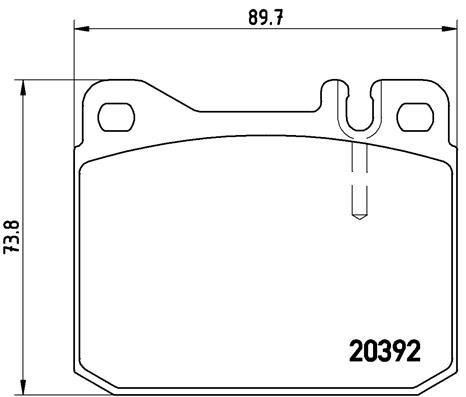 BREMBO P50002 | Комплект тормозных колодок, дисковый тормоз | Купить в интернет-магазине Макс-Плюс: Автозапчасти в наличии и под заказ