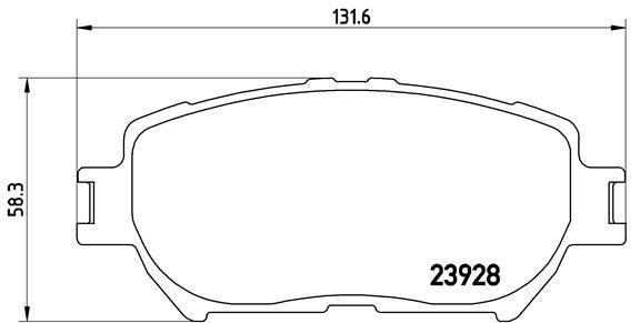 BREMBO P83062 | Колодки тормозные дисковые | перед | | Купить в интернет-магазине Макс-Плюс: Автозапчасти в наличии и под заказ