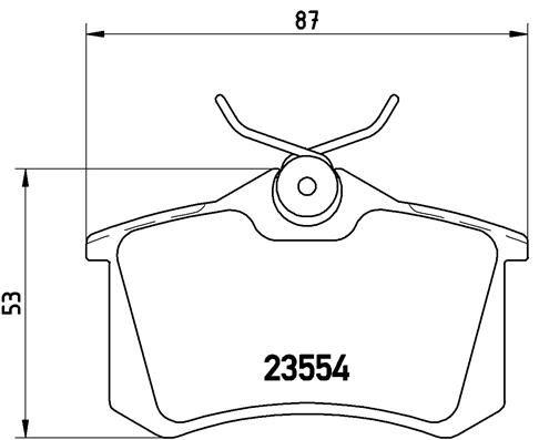 BREMBO P85017 | P85017 колодки дисковые задние!\ VW Golf II/III/Passat 1.6-2.8/1.9TDi 88-99 | Купить в интернет-магазине Макс-Плюс: Автозапчасти в наличии и под заказ