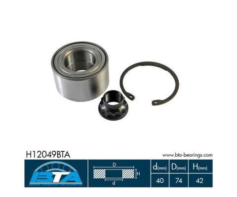 BTA H12049BTA | Комплект подшипник ов колеса перед pontiac vibe toyota avensis, coroll | Купить в интернет-магазине Макс-Плюс: Автозапчасти в наличии и под заказ