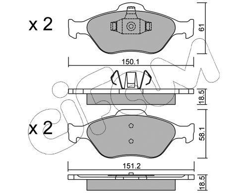 CIFAM 8223160   Колодки   Купить в интернет-магазине Макс-Плюс: Автозапчасти в наличии и под заказ