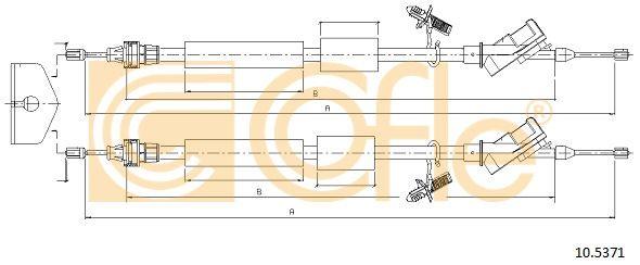 COFLE 105371 | ТРОС РУЧНИКА FOCUS-2 (БАРАБАН) | Купить в интернет-магазине Макс-Плюс: Автозапчасти в наличии и под заказ