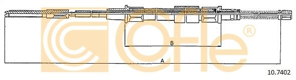 COFLE 107402 | Трос стояночного тормоза задн VW GOLF III-Variant-Cabrio 1.4-1.6-1.8-1.9DS-TDS (барабанные тормоза) | Купить в интернет-магазине Макс-Плюс: Автозапчасти в наличии и под заказ