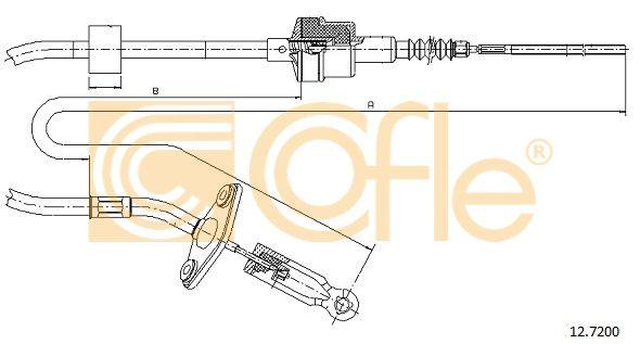 COFLE 127200 | Трос сцепления FIAT: PALIO/SIENA 99- 685/295 mm | Купить в интернет-магазине Макс-Плюс: Автозапчасти в наличии и под заказ